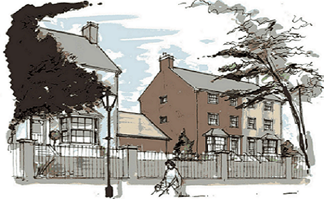 Artists impression of housing