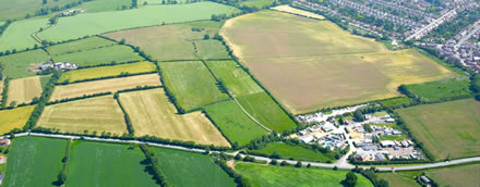 Barwell aerial view