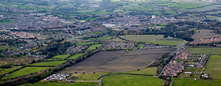 Bishop Auckland aerial view
