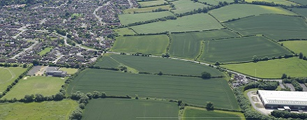 Shipston South aerial view